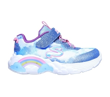 Skechers S Lights Rainbow Racer Girl, Blue