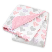 Just Born® Heart Plush Blanket Pink