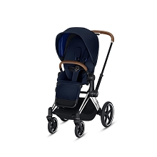 Cybex Priam 3 Chrome/Brown Frame with Indigo Blue Seat