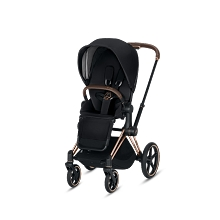 Cybex Priam 3 Stroller Rose Gold Frame with Premium Black Seat