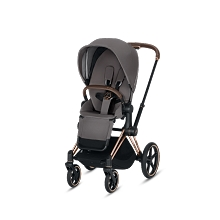 Cybex Priam 3 Complete Stroller Rose Gold Frame with Premium Manhattan Grey Seat