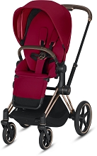 Cybex Priam 3 Complete Stroller Rose Gold Frame with True Red Seat