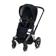 Cybex ePriam Stroller Chrome/Black Frame with Premium Black Seat