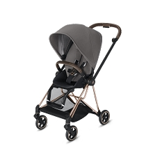 Cybex Mios 2 Stroller Rose Gold Frame with Premium Manhattan Grey Seat