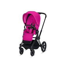 Cybex Priam 3 Stroller Matte Black Frame with Fancy Pink Seat