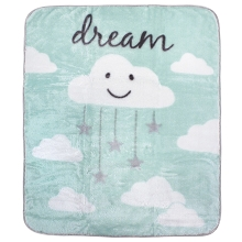 Hudson Baby Boy and Girl High Pile Blanket, Mint Cloud