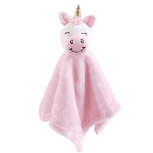 Hudson Baby Unicorn Security Blanket Pink