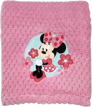 Disney Baby Minnie Mouse Popcorn Coral Fleece Blanket