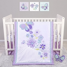 Sammy and Lou Butterfly Meadow Bedding Crib Set 4 Pieces