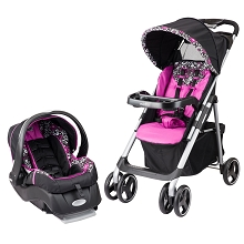 Evenflo Aero Travel System with Embrace Infant Car Seat in Daphne