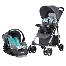 Evenflo Aero Travel System Embrace Infant Car Seat Spearmint Spree