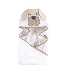 Hudson Baby Animal Face Hooded Towel Tan Puppy
