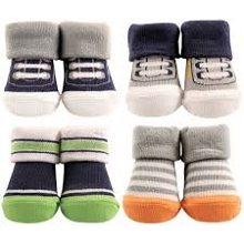 Hudson Baby 4 Piece Baby Boy Sock Gift Set, Athletics