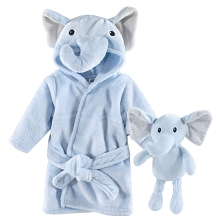 Hudson Baby Snuggle Time Box Set, 2-Piece Set, Blue Elephant