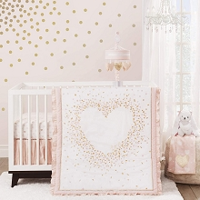 Lambs & Ivy Sweetheart Bedding Crib Set 3-Pieces