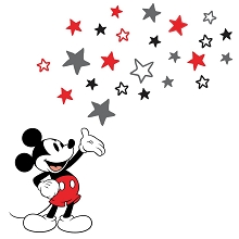 Lambs & Ivy Disney Baby Magical Mickey Mouse Wall Decals - Gray/Red