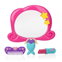 Nuby Mermaid Mirror Bath Toy Set