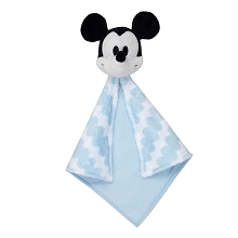 Lambs & Ivy Disney Baby Mickey Plush Security Blanket White-Blue