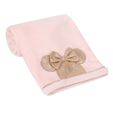 Lambs & Ivy Baby Minnie Mouse Applique Blanket Pink/Rose Gold