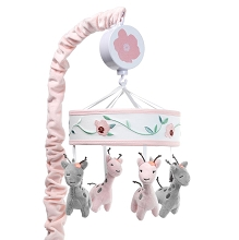 Lambs & Ivy Giraffe and Half Pink/Grey Musical Mobile