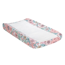 Lambs & Ivy Giraffe and a Half Liberty Floral Watercolor Changing Pad Cover