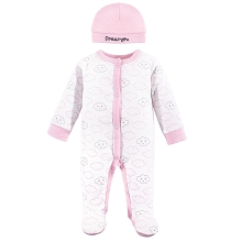 Luvable Friends Girl Cloud Seep'n Play & Cap Preemie