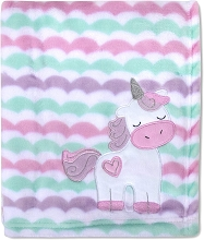 Baby Essentials Unicorn Fleece Blanket Multicolor