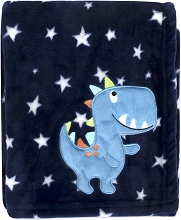 Baby Essentials Dino Stars Fleece Blanket Blue
