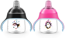 Avent 2 Pack My Penguin Sippy Cup 7oz, 6m+ BPA Free