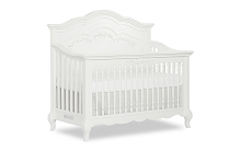 Evolur Baby Aurora 5-in-1 Convertible Crib in Frost White