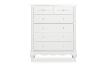 Evolur Baby Aurora Tall Chest in Frost White