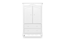 Evolur Baby Aurora Armoire in Frost White
