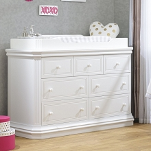 Sorelle Vista Elite Supreme Double Dresser in White