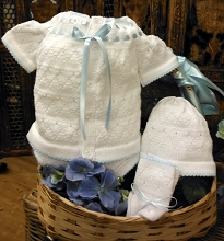 Will'beth Knit Set 4-Pieces White-Blue