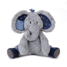 Lambs & Ivy Indigo Elephant Baby  Plush Stuffed Animal Patches