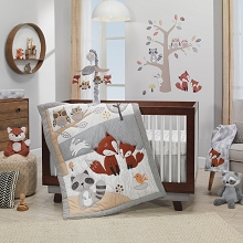 Lambs & Ivy Into The Woods Bedding Crib Set 4 Pieces