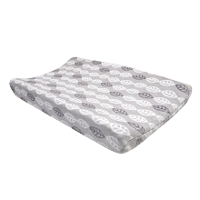 Lambs & Ivy  Into the Woods White/Gray Leaf Changing Pad Cover