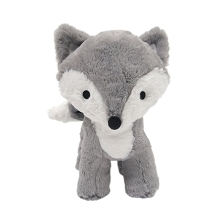 Lambs & Ivy Forever Friends Gray-White Woodland Plush Fox-Flowers