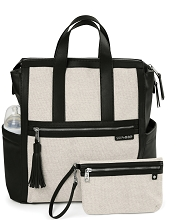 Skip Sutton Diaper Satchel Black-Natural