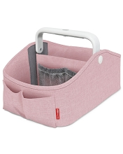 Nursery Style Light-Up Diaper Caddy Pink