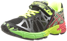 Asics 60% Off GEL-Noosa Tri 9 GS Running Shoe , Kids - Black / Red / Flash Yellow