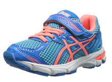 Asics 60% Off GT 1000 3 PS Running Shoe  - Turquoise/Hot Coral/Blue