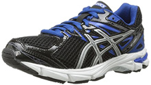 Asics 60% Off GT 1000 3 PS Running Shoe, Big Kid  - Black/Lightning/Royal