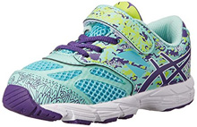 Asics 60% Off Gel Noosa Tri 10 TS Running Shoes , Kids  - Turquoise/Grape/Lime