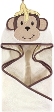 Hudson Baby Animal Face Hooded Towel Banana Monkey