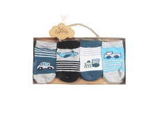 Baby Essentials 4 Pack Transport Sock Set Boy, 3-9 Months
