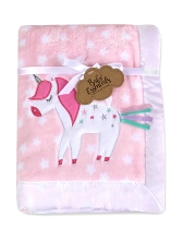 Baby Essentials Plush Blanket Unicorn Sparkle