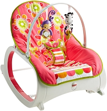 Fisher Price Infant to Toddler Rocker Girl Flower Confetti