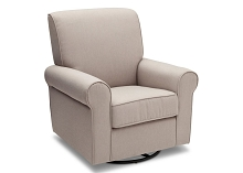 Delta Children Avery Upholstered Glider Swivel Taupe