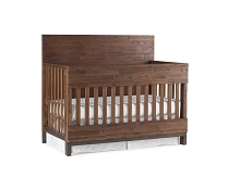 ED Ellen Degeneres Greystone Flat Top Full Panel Convertible Crib Hewn Brown